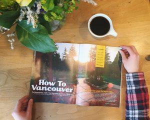 coffee, flowers, vancouver magazine